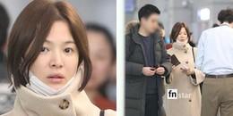 Giữa nghi án mang thai con đầu lòng, Song Hye Kyo lộ mặt mệt mỏi xuất hiện tại sân bay