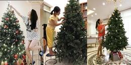 Sao Việt tất bật trang trí nhà đón Giáng sinh, cây thông nhà ai lung linh nhất?
