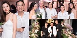 Tăng Thanh Hà và chồng đại gia cùng loạt sao Việt rạng ngời đi ăn cưới