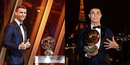Trọn bộ khoảnh khắc giành bóng vàng 2017 của siêu sao Cristiano Ronaldo