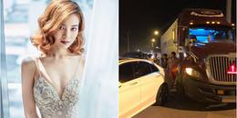 yan.vn - tin sao, ngôi sao - Ninh Dương Lan Ngọc bị va chạm xe hơi trên đường cao tốc khiến fan lo lắng