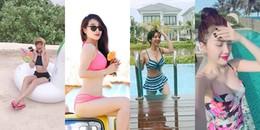 Những lần diện bikini 'gây bão' của mỹ nhân Việt