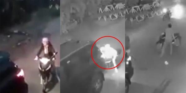 Clip: Nam tài xế lùi xe không quan sát gây tai nạn còn hung hãn cán luôn người bị thương
