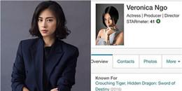 Ngô Thanh Vân 'đánh bại' loạt sao Hollywood vào top 50 ngôi sao được tìm kiếm nhiều nhất thế giới
