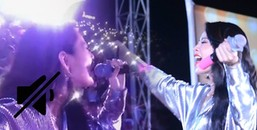 Sợ lộ hát chênh phô, Chi Pu tắt tiếng đoạn lên nốt cao khi hát giao lưu với khán giả?