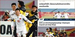 Báo chí nước ngoài 'cạn kiệt' lời khen khi chứng kiến tấm vé chung kết lịch sử của U23 Việt Nam