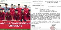 Cảnh báo giả mạo công văn BộGD&ĐT cho học sinh, sinh viên nghỉ học để cổ vũ U23 Việt Nam