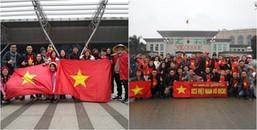 CĐV Việt Nam đã 'nhuộm đỏ' Thường Châu, sẵn sàng cổ vũ hết mình cho U23 Việt Nam