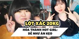 Học lỏm bí quyết giảm tới 20kg của hot girl Hàn Quốc khiến nhiều người phải kinh ngạc