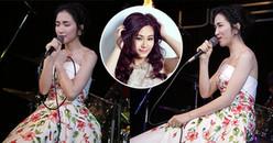 """Hòa Minzy mặc đầm """"hoa dâm bụt"""" giả giọng Lương Bích Hữu cực giống"""