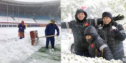 Tin từ Thường Châu: Tuyết rơi trắng SVĐ, U23 Việt Nam được xả hơi 'nghịch tuyết'