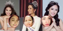 'Đọ' mặt mộc của các nàng hậu Việt: Người đẹp long lanh, người nhợt nhạt thiếu sức sống