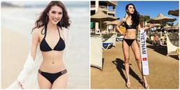 Mỹ nhân 'soán ngôi' vòng eo của Ngọc Trinh trắng tay phần thi bikini của Hoa hậu Liên lục địa