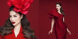 Chiêm ngưỡng vẻ đẹp 'tan chảy'' của Hoa hậuPhạm Hươngtrong sắc đỏ