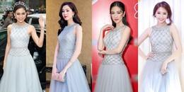 Chỉ diện một bộ váy mà Á hậu Mâu Thủy 'đụng' cùng lúc 5 mỹ nhân Việt