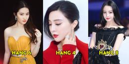 Xếp hạng những nữ minh tinh đẹp nhất showbiz Hoa ngữ