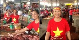 Ở một diễn biến khác, hội chị em bán thịt heo ở chợ cũng 'hừng hực' khí thế cổ vũ U23 thế này đây!