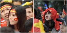 Những gương mặt CĐV nữ xinh xắn hết lòng ủng hộ các anh U23 Việt Nam