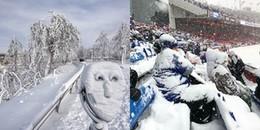 'Bom bão tuyết' quét qua, nước Mỹ giờ còn lạnh hơn cả... sao Hỏa, tuyết rơi dày đến cả mét