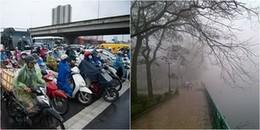 Đầu tuần không khí lạnh suy yếu, Miền Bắc tăng nhiệt nhưng chìm trong sương mù và mưa phùn