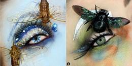 Dùng son phấn để làm đẹp đã xưa rồi, người phụ nữ này dùng cả... xác côn trùng để trang điểm