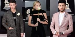 Dàn sao đình đám khoe sắc với hoa hồng trắng trên thảm đỏ Grammy 2018