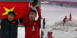Ngôi sao U23 cắm quốc kỳ đánh dấu chiến công tại SVĐ Olympic Thường Châu