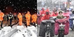 Trung Quốc: Nhiều người quấn 'chăn bông' ra đường để chống chọi với cơn lạnh kỷ lục