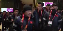 Clip: Các cầu thủ U23 Việt Nam hiên ngang và tự tin trước giờ G