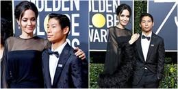 Angelina Jolie ưu ái đưa con trai gốc Việt tham gia lễ trao giải Quả Cầu Vàng 2018