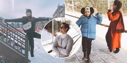 Kim Lý đích thân nắm tay Subeo dạy trượt tuyết, Hồ Ngọc Hà cười rạng rỡ hạnh phúc