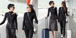 Hoa hậu H'Hen Niê mất điểm khi diện váy nhăn nhúm ra sân bay