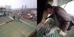 """Hà Nội: Hình ảnh """"ngàn năm có một"""", dân chung cư đi bộ trên mái nhà vì thang máy hỏng"""