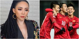 """Tóc Tiên khuyên U23 Việt Nam: 'Các em về sớm nghỉ ngơi để bọn chị còn ra bài mới"""""""