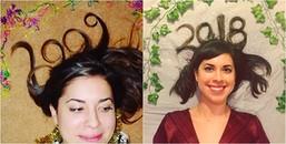 Đón năm mới suốt 10 năm bằng một kiểu tóc 'độc', cô gái bỗng trở nên nổi tiếng khắp thế giới