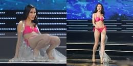 Thí sinh Hoa hậu Hoàn vũ Việt Nam 2017 nói gì sau cú 'vồ ếch' lúc trình diễn bikini?