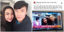 Kênh truyền hình lớn của Hàn Quốc nói gì về  màn diễn bikini trên máy bay đón U23 Việt Nam?