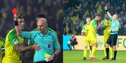 Trọng tài đá cầu thủ, rút thẻ đỏ trong trận thắng của PSG