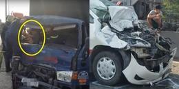 Sài Gòn: Va chạm liên hoàn, nam thanh niên 15 tuổi bị thương mắc kẹt trong cabin xe tải