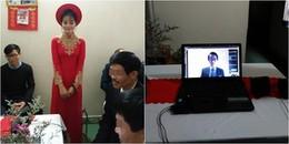 CĐM phát sốt với lễ ăn hỏi qua... màn hình laptop của cặp đôi yêu nhau 10 năm