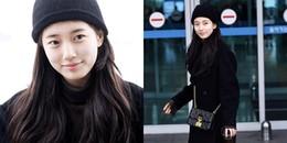 Lần đầu tiên xuất hiện trong năm mới, Suzy 'gây bão' với nhan sắc nói không với son phấn