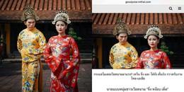 Bộ ảnh vua chúa của Khánh Ngân - Ngọc Tình xuất hiện trên báo Thái Lan