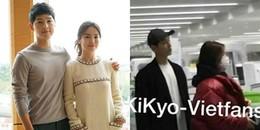 Bắt gặp hình ảnh 'dính nhau như sam' đầy ngọt ngào của Song Joong Ki - Song Hye Kyo tại sân bay