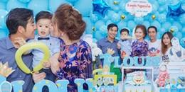 Vừa về nhà mới, vợ chồng 'kiều nữ' Ngọc Lan tổ chức tiệc sinh nhật cho con trai