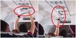Cô gái trẻ khiến hành khách lắc đầu ngao ngán khi hồn nhiên 'phơi' quần chip giữa máy bay