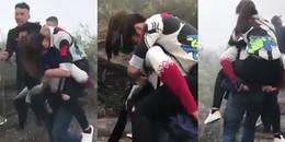 Cõng bạn gái leo núi, 'Soái ca' khiến cư dân mạng tranh cãi quyết liệt về cách thể hiện tình yêu