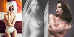 'Bỏng mắt' với những lần lấy tay che ngực táo bạo của mỹ nhân Việt
