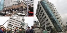 Cận cảnh những ngôi nhà nghiêng còn hơn cả tháp Pisa sau trận động đất kinh hoàng tại Đài Loan