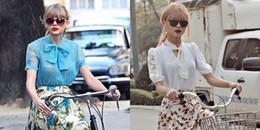 """Phát sốt với chùm ảnh Taylor Swift 'diễn"""" cảnh dạo xuân """"xuất thần' tại Việt Nam"""