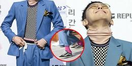 G-Dragon tất hồng đạp gót giày, dùng dây giày làm thắt lưng vẫn điển trai: quan trọng là thần thái!